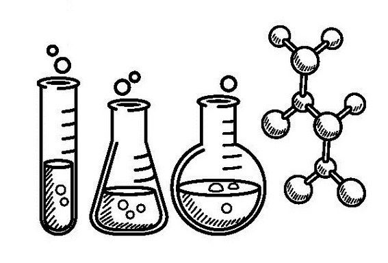 Best Chemistry Instruments Lineart Coloring Sheet For Children In 2021 Coloring Pages Preschool Kids Chemistry
