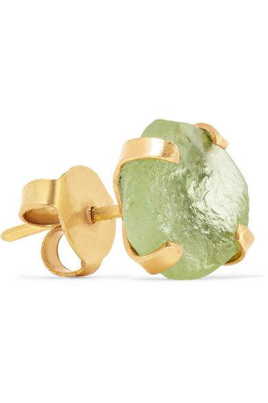 Pippa Small - 14-karat Gold Peridot Earrings
