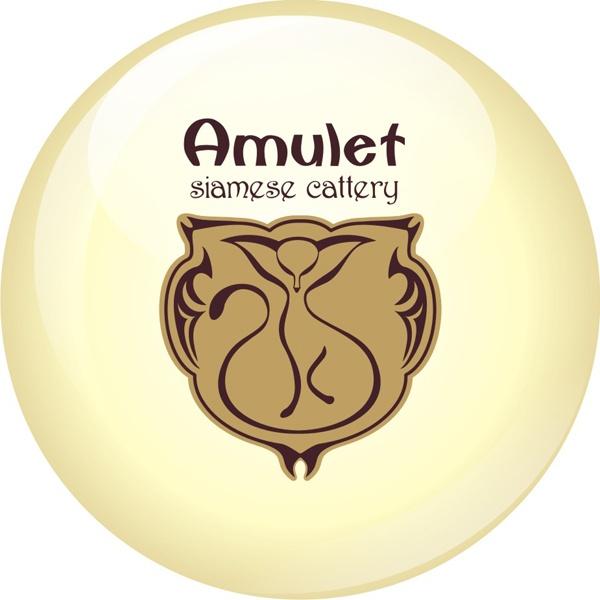 Логотип для Питомника Сиамских Кошек «Амулет»