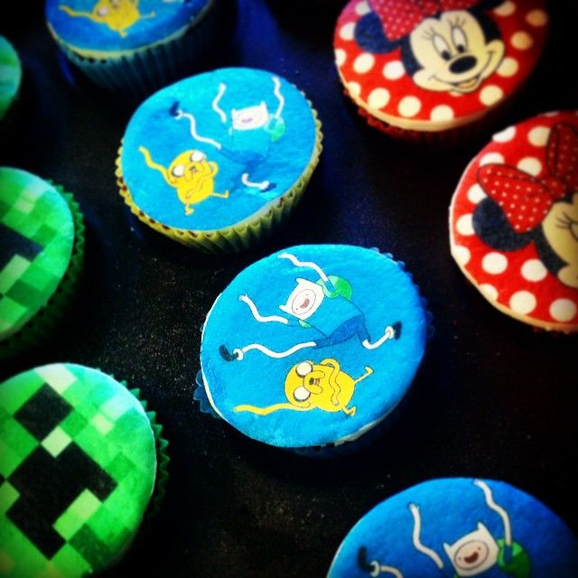 Personalised cupcake toppers. Available soon from Sweet P Confectionery!! #geek #caketoppers #adventuretime