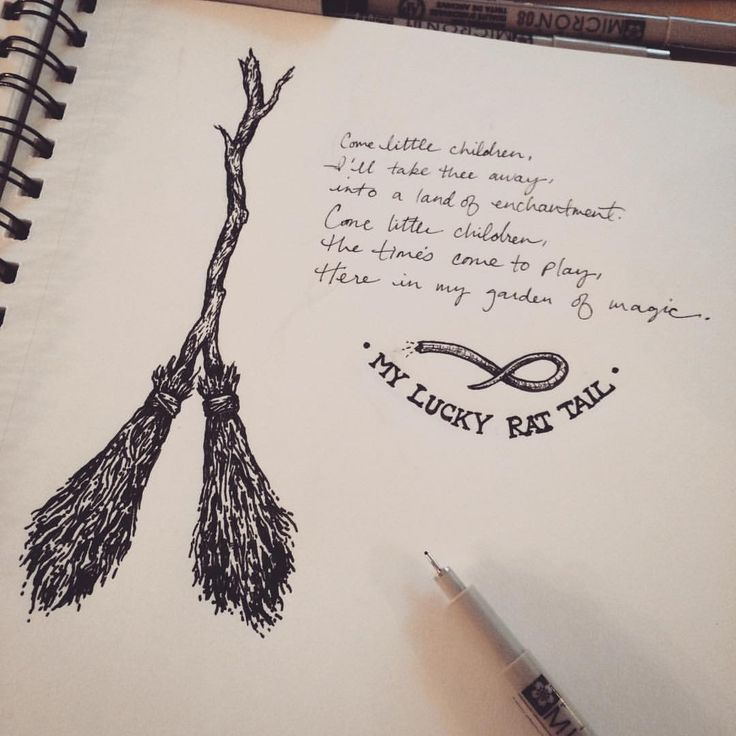 The Double Broom. Sketch number 12 in my 13 sketches of Halloween! Upon watching…