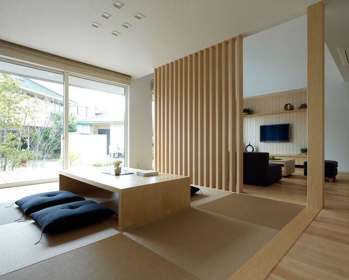 畳コーナー 間仕切り格子|注文住宅のアキュラホーム