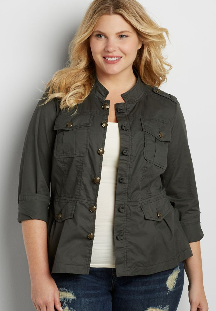 plus size military jacket On my wish list #wishpinwinsweepstakes #discovermaurices.