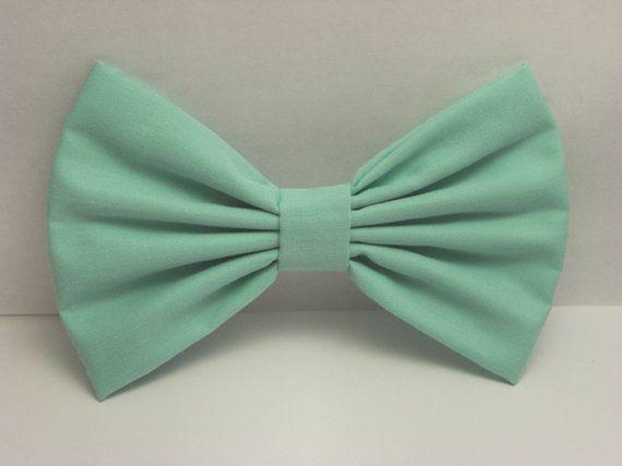 Mint Hair Bow Clip Mint Bow Mint Clip Big Bows by CutieCuteBows, $4.99... So cute!