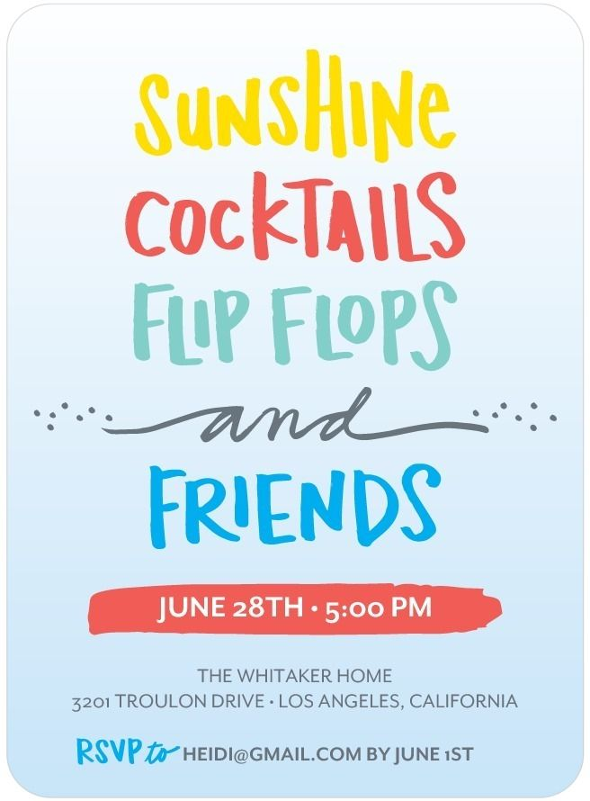 25 best ideas about Summer party invites – Summer Party Invitation Ideas