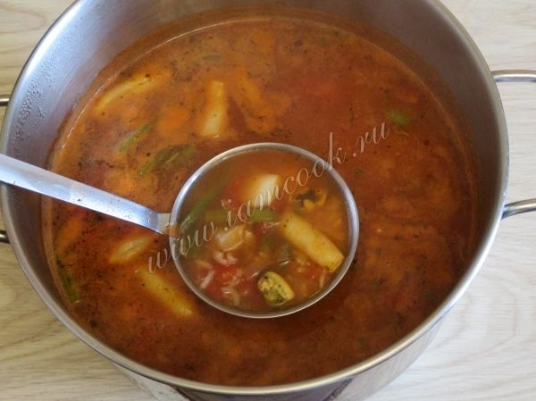 Готовый суп Гамбо