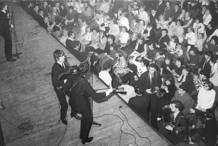 20th October 1964. The Beatles performing at the Caird Hall, Dundee