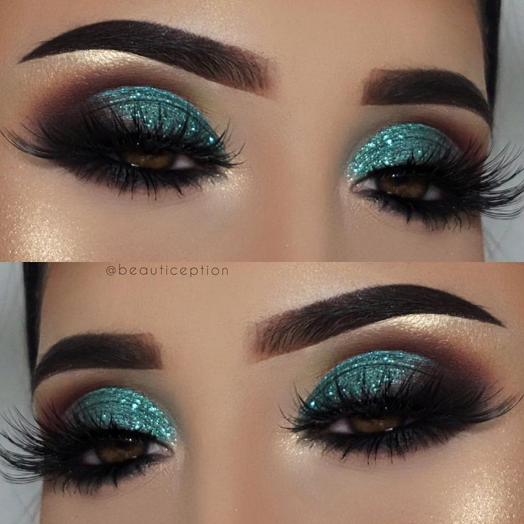 "560 Likes, 30 Comments – Beautiception on Instagram: ""Teal glitter anyone? ✨…"