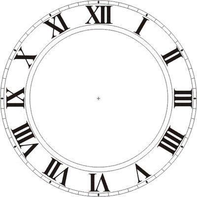 Ziffernblatt - römische Zahlen - Uhr - - - - Clock Faces