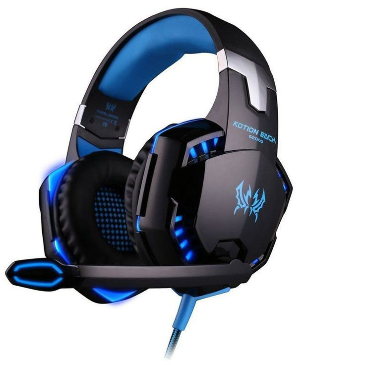 Best PC Gamer casque EACH G2000 Stereo Hifi Gaming Head Phones With Microphone Dazzle Lights Glow Game Music Headset