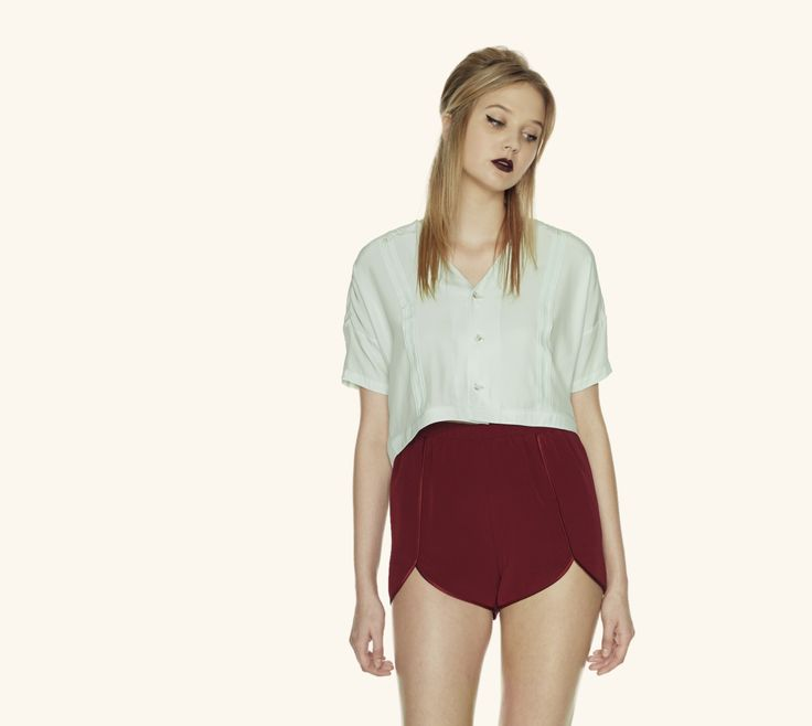 Cora Crop Top in Mint & Colette Shorts