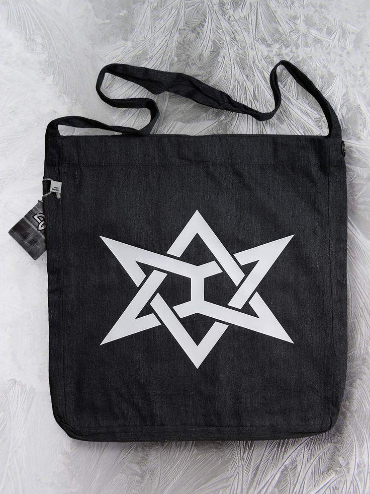 """Awesom-o-gram"" sling tote bag by Paranoia Borealis."