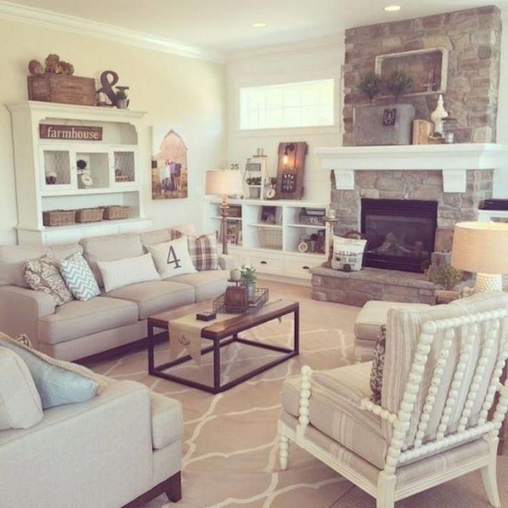 41 Warm And Cozy Farmhouse Style Living Room Decor Ideas