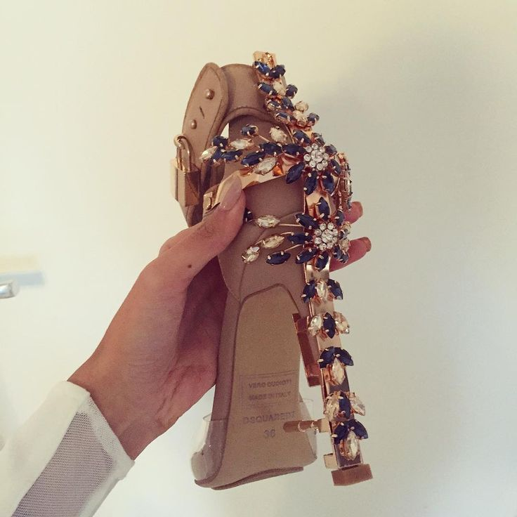 """My new heels for my engagement from @dsquared2"""