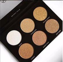 En stock!!! nouveau Ultime Glow 6 Couleurs Ombre Surligneur Palette Mettent En Bronzer Palette Nouveau Cosmestics Maquillage face(China (Mainland))
