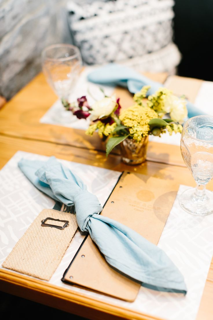 Rehearsal Dinner Tabletop | Southwestern Bride | Table Setting | Paper Placemats