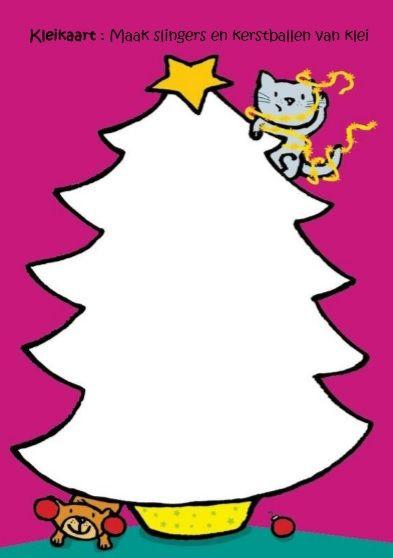 Kleikaart kerstballen en -slingers