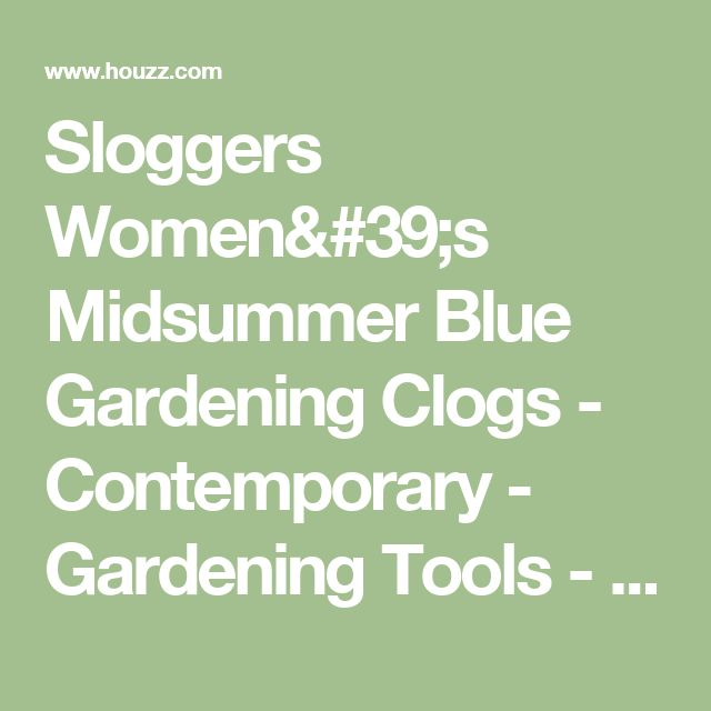 Sloggers Women's Midsummer Blue Gardening Clogs - Contemporary - Gardening Tools - by Overstock.com