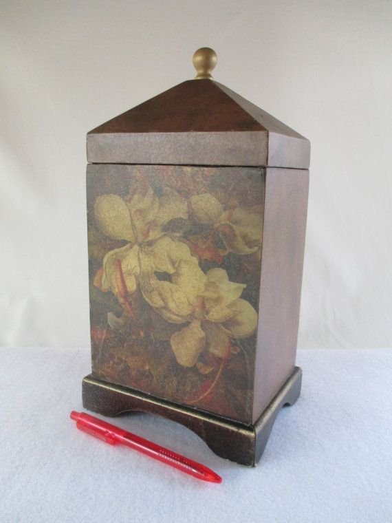 Decorative Storage Box Vintage Floral Cabbage Roses by HobbitHouse