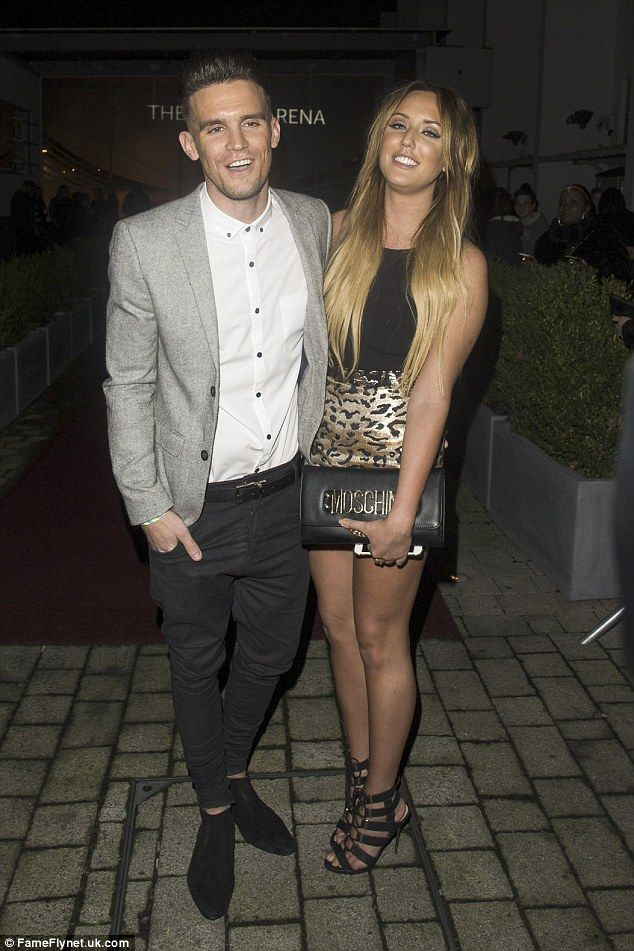 Loved-up: Joining Vicky at the party was Gary Beadle and Charlotte Crosby, who she previously starred opposite in Geordie Shore before leaving in series eight
