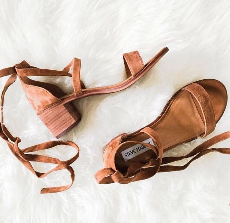 suede wrap sandals #stevemadden