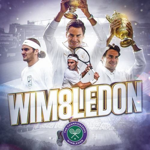 History is made... Roger Federer. Wimbledon, July 2017