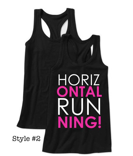"""Horizontal Running!"" workout tank by Lexi's Loft HAHA!! We need these! @Lauren Davison Rhoades"