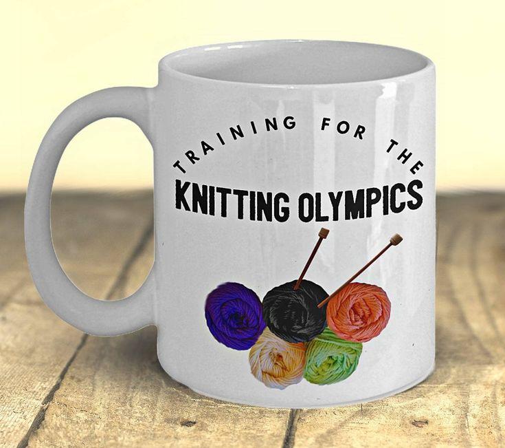 Knitting Lovers Gift, Funny Knitting Mug, 'Knitting Olympics', Craft Lovers Gift, Knitting Gift, Knitters Gift, Knitters Mug, Gift for Women by PortunaghDesign on Etsy