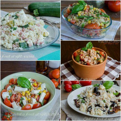 Ricette estive insalate di riso, farro e orzo, tante ricette gustose di primi piatti freddi senza pasta. Leggere, veloci e gustose.