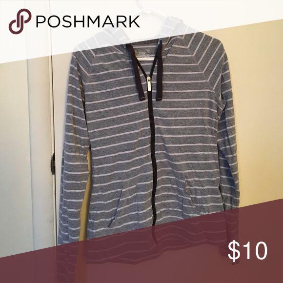 Sweatshirt Striped zip up hoodie- under armour Under Armour Tops Sweatshirts & Hoodies
