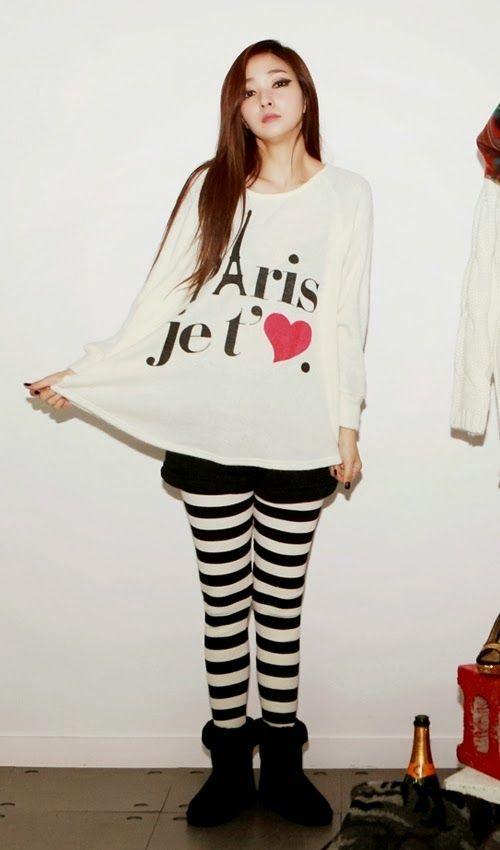 Paris Is Love Knit Sweater #koreanfashion