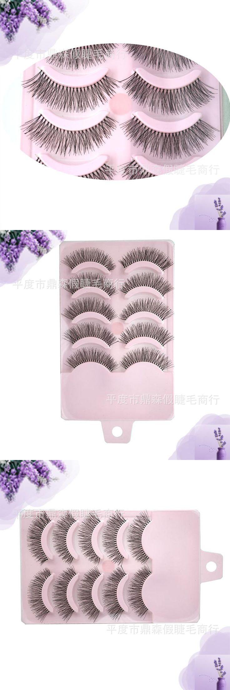 [Visit to Buy] Artificial Popular 5 pairs false eyelashes make up natural long valse wimpers strips eyelash fake eye lashes cosmetics #Advertisement