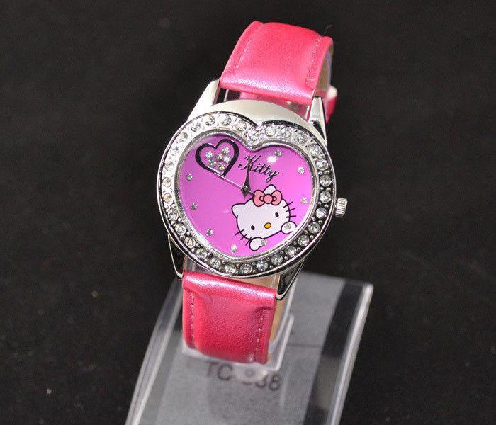 New Big Heart Face Hello Kitty Girls Ladies Wrist Watch Quartz Fashion Rose 13 #unbranded #Casual
