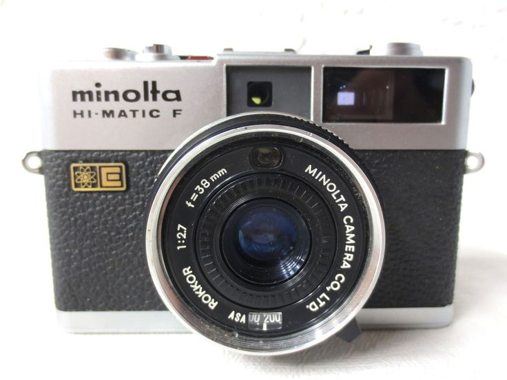 Minolta Hi-Matic F 35mm Camera with Minolta Rokkor 2.7 38mm Lens Excellent condition, fully functional. Clean inside and out. Has its original Minolta Rokkor 2.7 38mm Lens. Made in Japan.