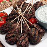 Beef Koftas with Pitas and Minted Yogurt...have to try these, it's Morrocan by the way.