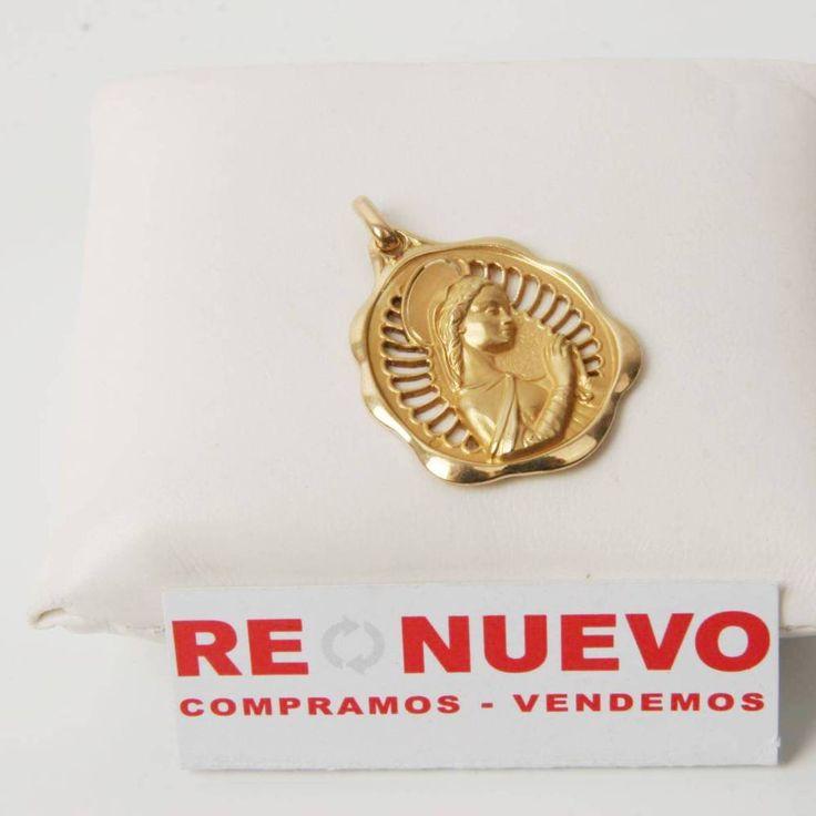 Medalla Virgen rezando de oro de segunda mano E276561D | Tienda online de segunda mano en Barcelona Re-Nuevo