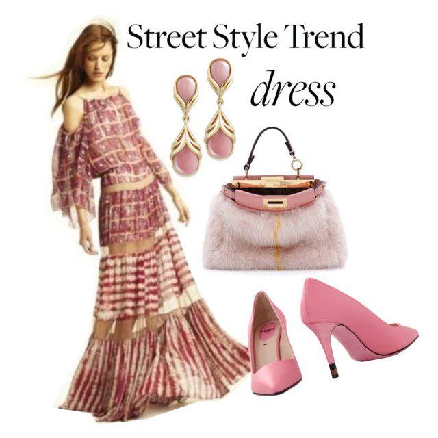 """New Trend: Bell-Sleeve Dresses"" by teez-biz-nez ❤ liked on Polyvore featuring Fendi, BCBGMAXAZRIA and bellsleevedress"