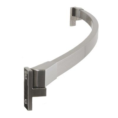PreferredBathAccessories 60 Curved Shower Curtain Rod Finish Brushed Nickel