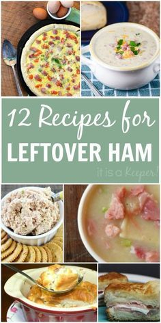 If you're left with left over holiday ham, here are 12 recipes to help you make the best of it!