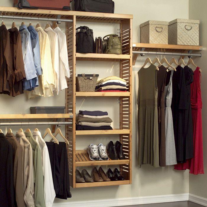 {Louis Closet Organizer Set in Honey Maple} oh, I'd love this in my closet!