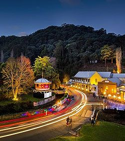 Walhalla Vinter Ljusfest, Gippsland, Victoria, Australia. The annual winter lights festival held each August.