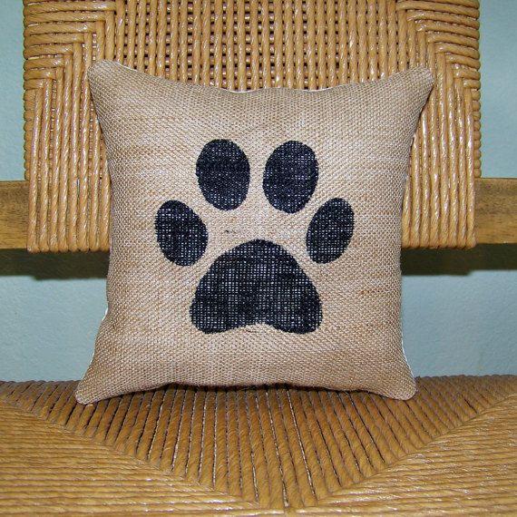 Dog pillow paw print pillow pet pillow by KelleysCollections