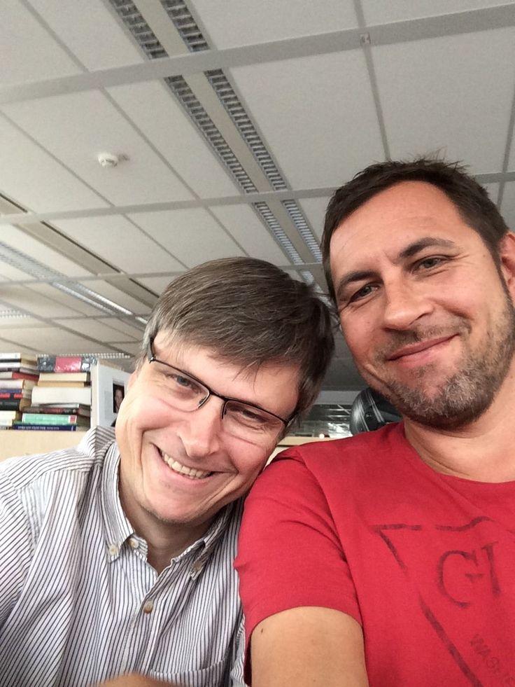 #Selfie: Zwei-Mann-Team mit großen Plänen. http://atmedia.at #Silber #Pribil