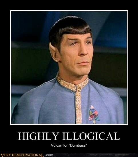 Funny Meme Pictures Without Words : Star trek spock meme why just insult someone when you
