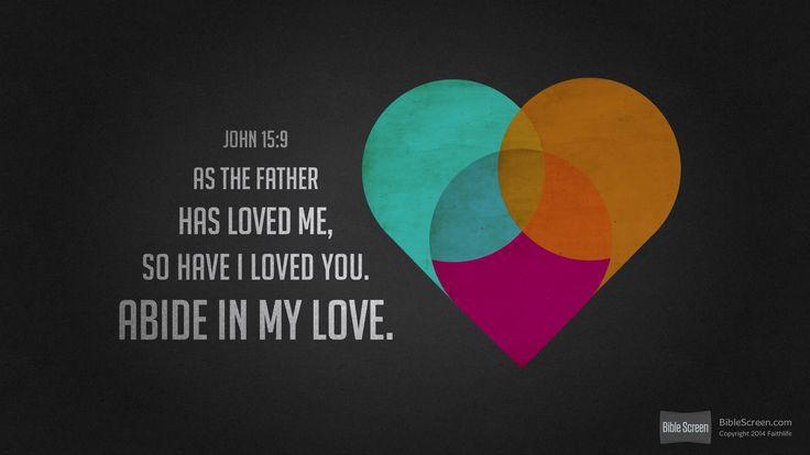 I'm reading John 15:9