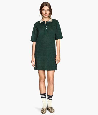 H&M Linen-blend Piqué Dress $49.95