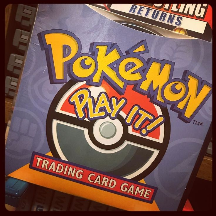#pokemon Play It! I'm pretty sure this was a training PC-CD-ROM for the Pokémon Trading Card game. I must've had two of these because this one is still sealed but I distinctly remember playing it in my youth. God this takes me back. #Nostalgia