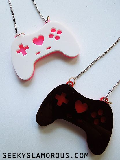 Mandie (from GeekyGlamorous.com) makes these super cute necklaces. I have one but I want a black one too!