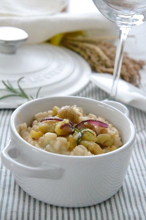 la mamma pasticciona: risotto al castelmagno con castagne al rosmarino