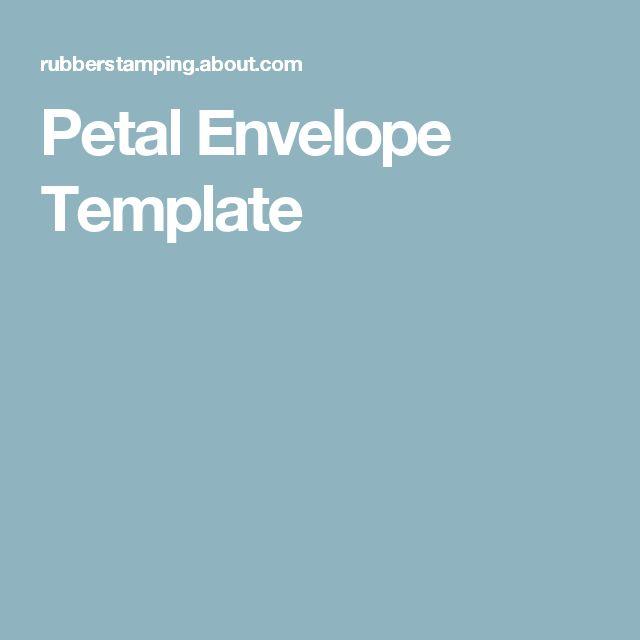 Petal Envelope Template